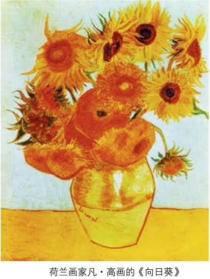 荷兰画家梵高画的向日葵