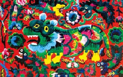 对比色练习-红与绿美术作品