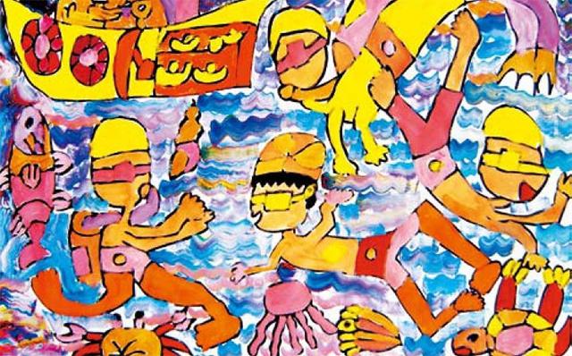 色彩并置法儿童美术作品