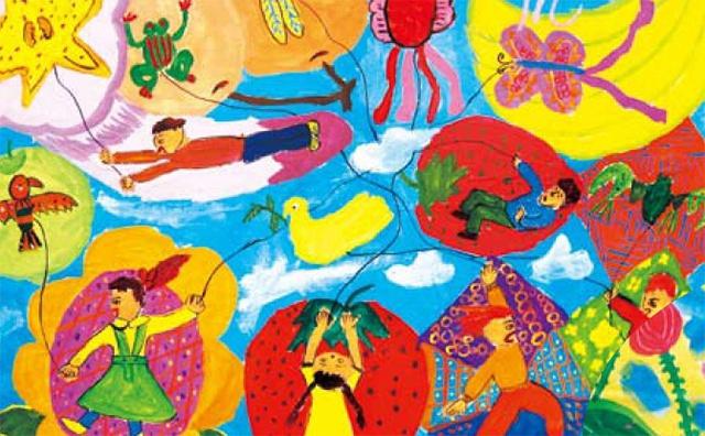 色彩构图想象添加美术作品