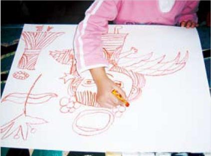 小学美术油画步骤二