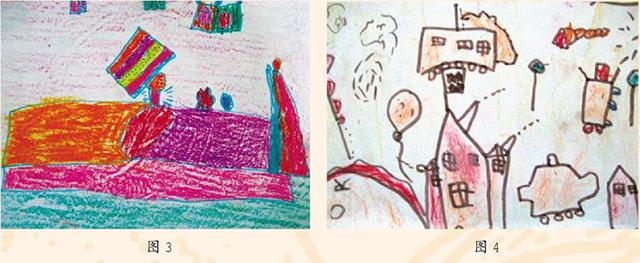 幼儿美术作品图3和图4