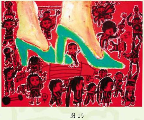 《小人国的故事》幼儿美术作品