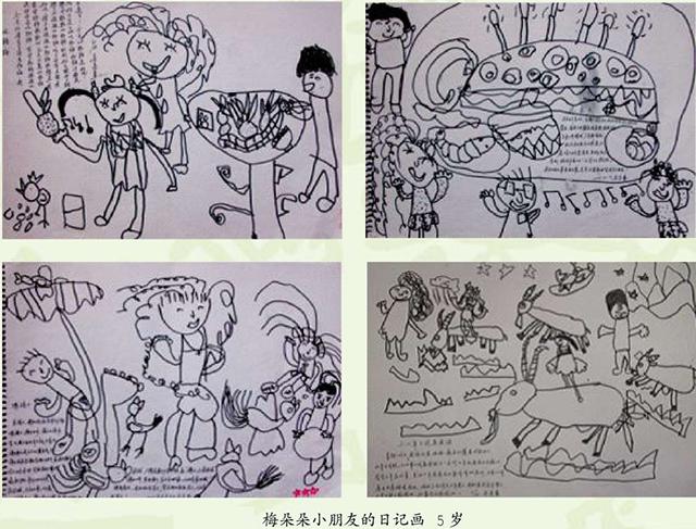 梅朵朵小朋友的日记画