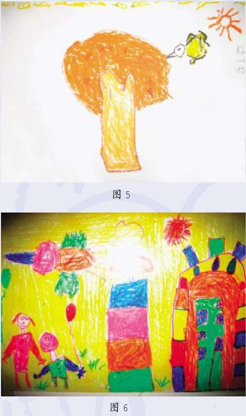 中班和大班幼儿情节画