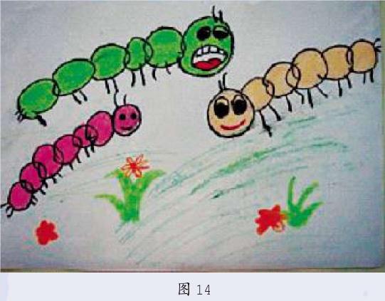 在意象期幼儿绘画特征的四种表现