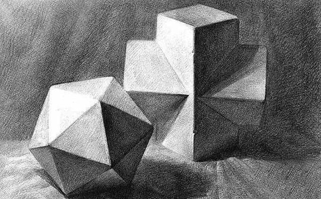 几何体素描的训练