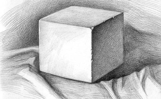 正方形石膏素描