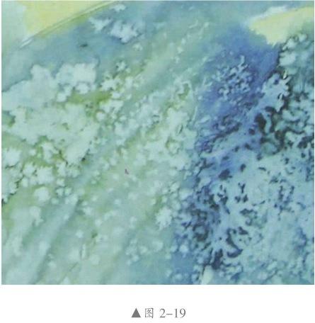 撒盐法水彩画