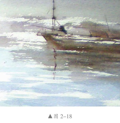 飞白法水彩画