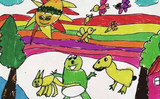 具有想象力的儿童绘画作品