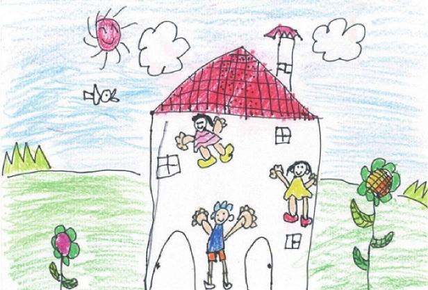 X光线式的儿童绘画作品