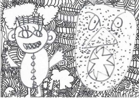 夸张的儿童绘画作品