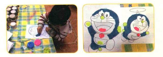 哆啦A梦儿童美术画