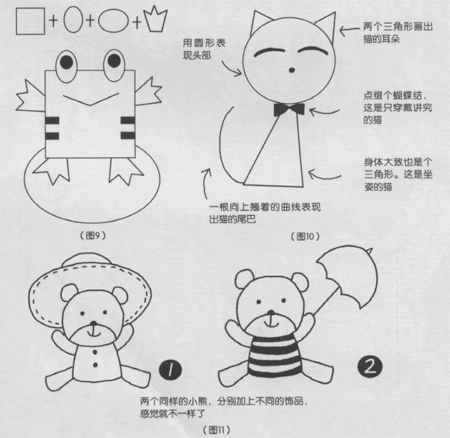 简笔画怎么画图9、10、11