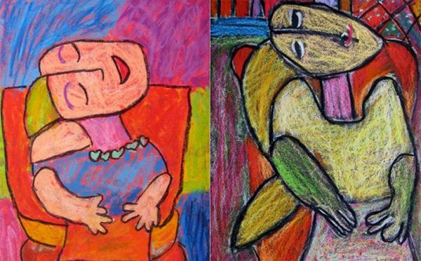 梦儿童美术作品