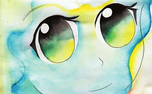 儿童眼睛漫画步骤二