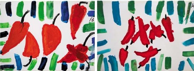 辣椒儿童美术作品