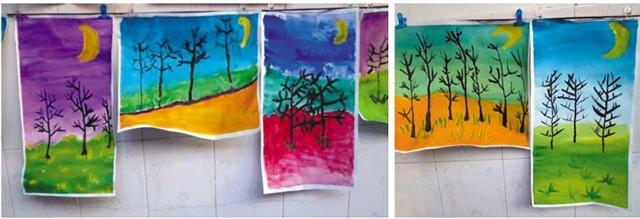 风景树儿童画