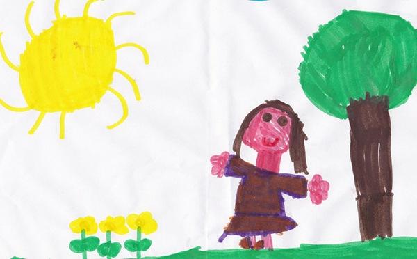 自画像儿童画