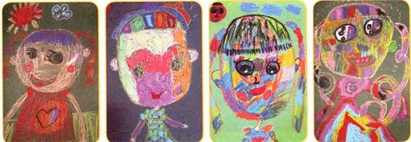 儿童自画像作品