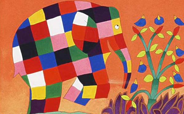 花格子大象艾玛儿童画(3)