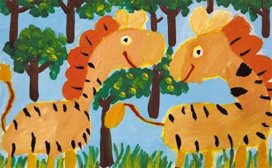 小马嗒嗒少儿绘画作品1