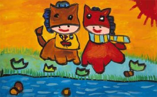 小马嗒嗒少儿绘画作品4