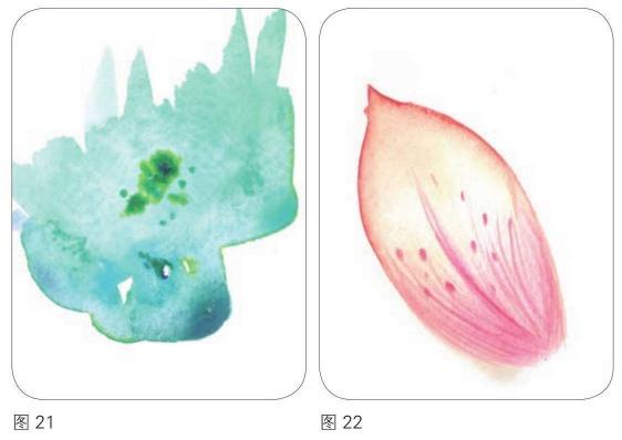 洗色技法和彩铅的结合运用的漫画作品图21和22