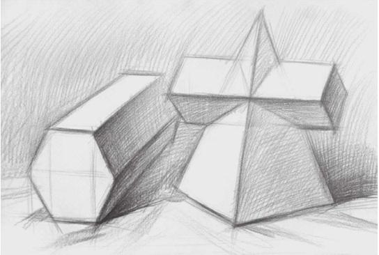 两个几何体的画法步骤二