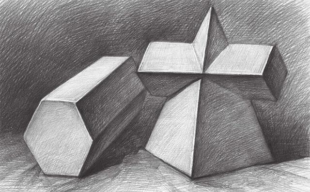 两个几何体完成图