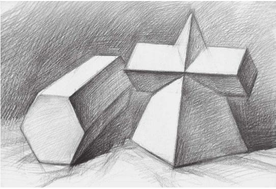 两个几何体的画法步骤三
