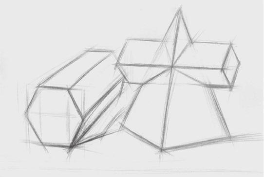两个几何体的画法步骤一