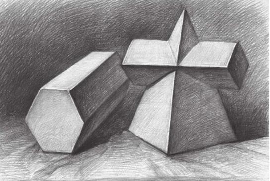 两个几何体的画法步骤四