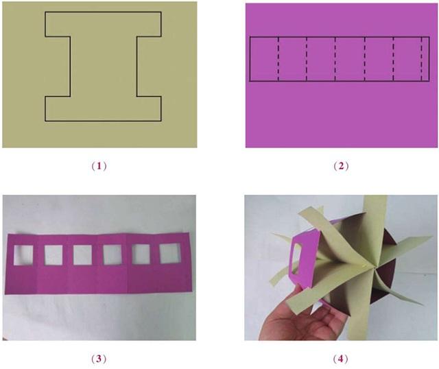 六棱柱式吊饰创意设计制作方法步骤一
