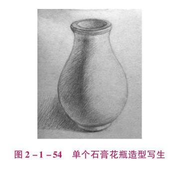 单个石膏花瓶造型写生