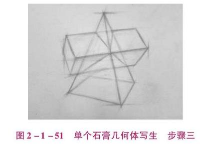 单个石膏几何体写生步骤三