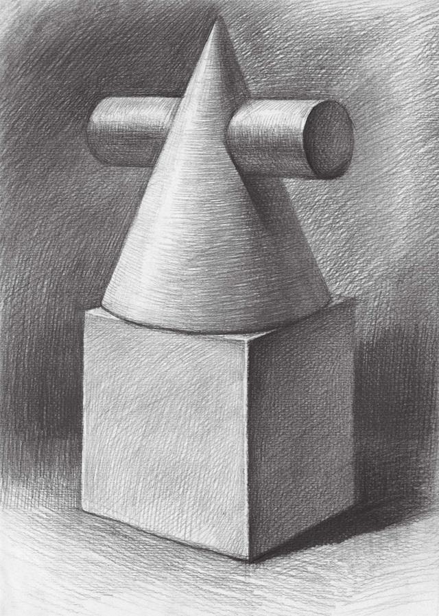 两个石膏几何体的画法