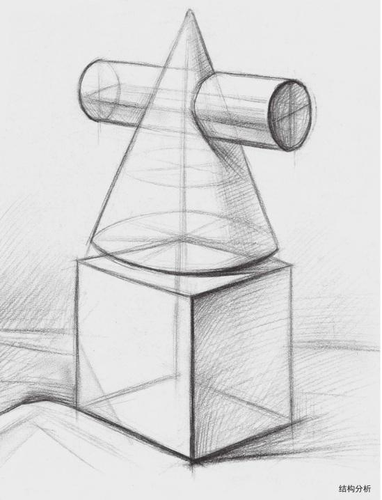 两个石膏几何体结构分析