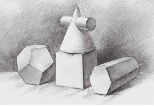 四个几何体的画法步骤三