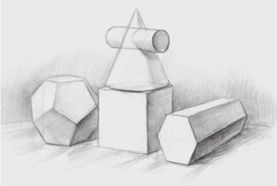 四个几何体的画法步骤二