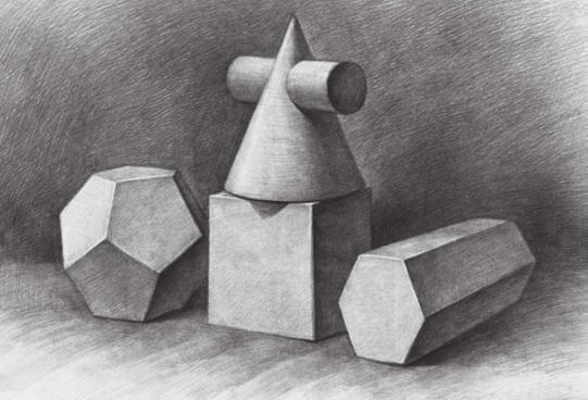 四个几何体的画法步骤四
