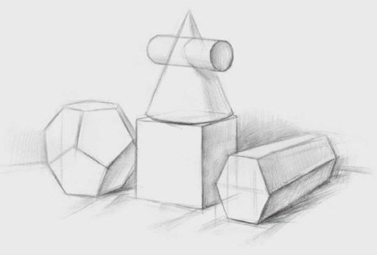 四个几何体的画法步骤一