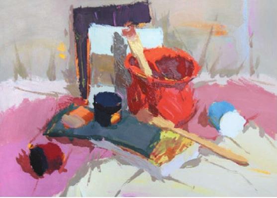 画具类色彩静物组合的画法(3)