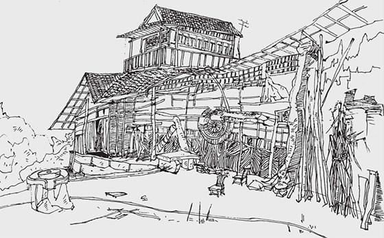 乡村农舍的画法(4)