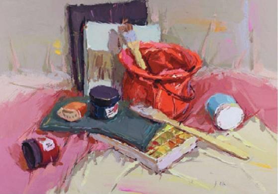 画具类色彩静物组合的画法(4)