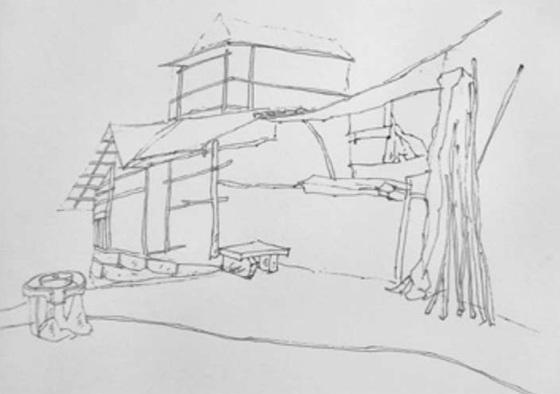 乡村农舍的画法(2)