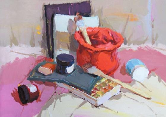 画具类色彩静物组合的画法(2)