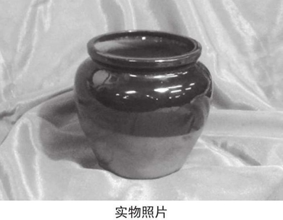 宽口陶罐实物照片