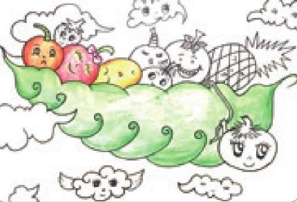 水果宝宝彩铅笔画绘画步骤(3)